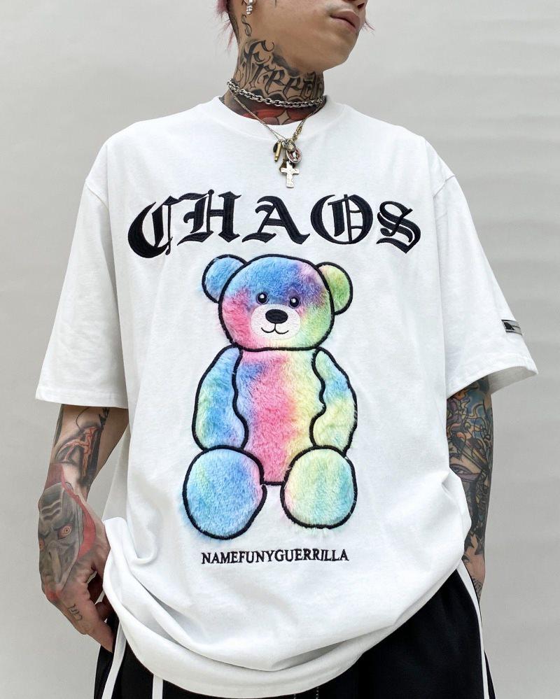 《3色》CHAOSファンタジーモコモコクマTシャツの画像1